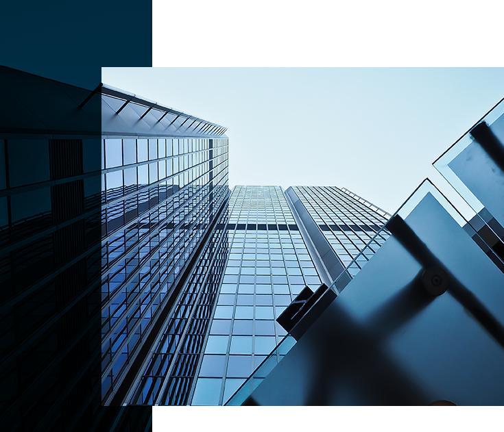 budynek biurowiec szklany wysokościowiec